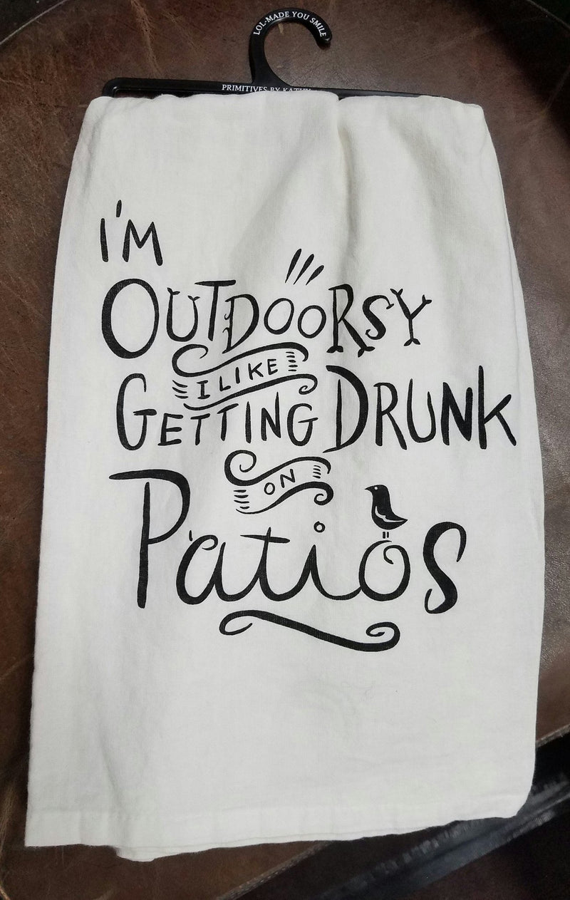 Primitives by Kathy LOL Dish Towel I'm Outdoorsy