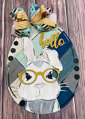 Bunny w/Glasses 3D Door Hanger