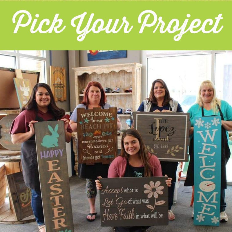 Pick Your Project DIY Paint Workshop - Saturday, September 28th- 11:00am