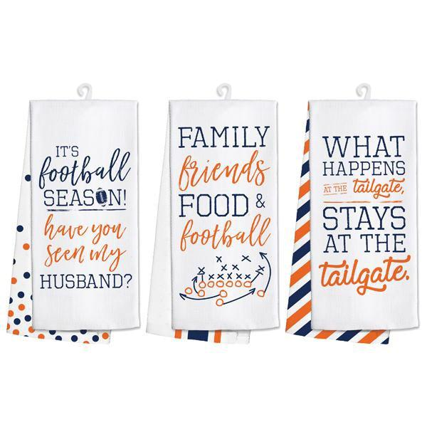 Gameday Tea Towels - Orange/Navy