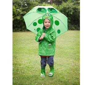 Kids' Frog Umbrella - Green