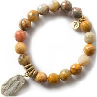 Gemstone Bracelet 10mm - Mexican Agate