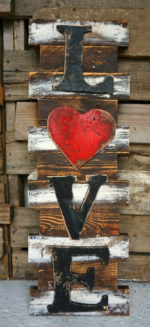 Love Heart Wood Wall Art