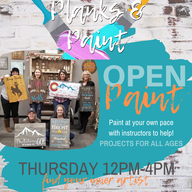 OPEN PAINT - Thursday 12PM-4PM