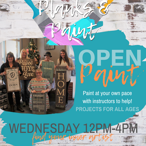 OPEN PAINT - Wednesday 12PM-4PM