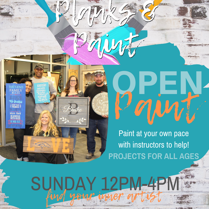 OPEN PAINT - Sunday 12PM-4PM