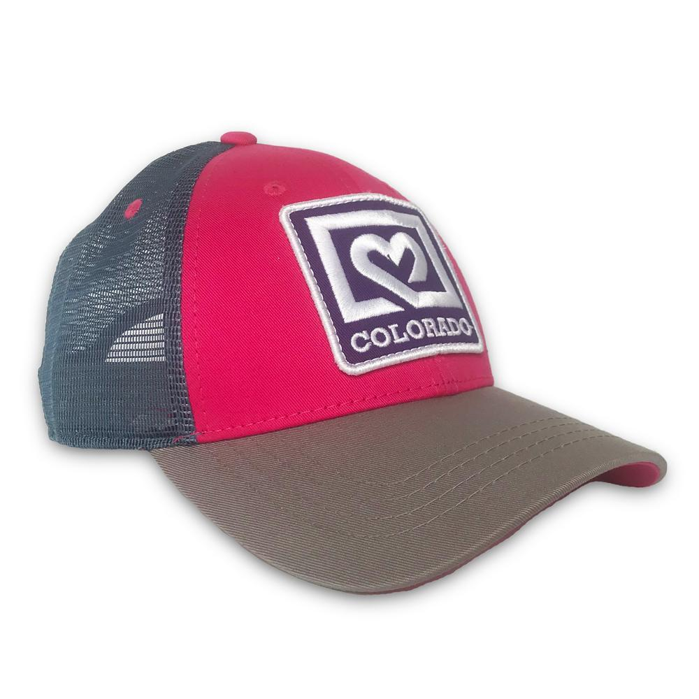 Pink Heart Low-Profile Trucker Hat