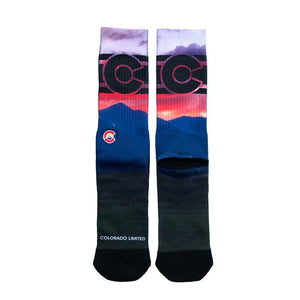 Rocky Mountain Sunset Colorado Flag Socks - Unisex