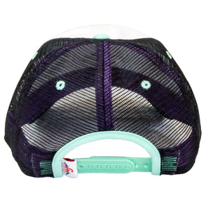 Mint Green/Purple Maroon Bells Low-Profile Trucker Hat