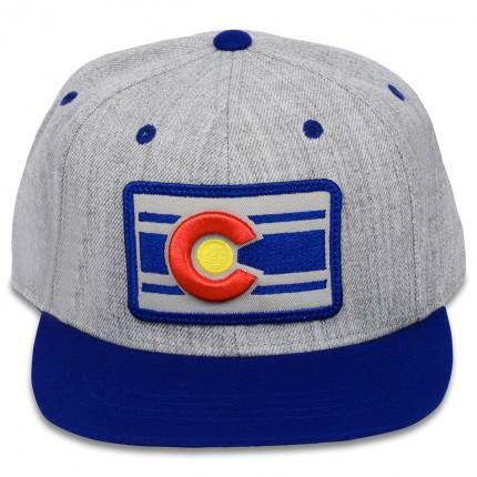 Heather Grey & Blue Colorado Flag Snapback