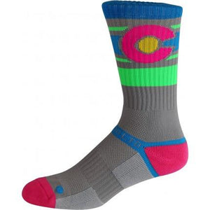 Neon Colorado Flag Socks