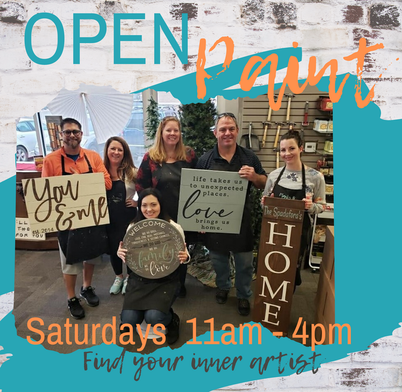 Sat, Jan. 25th ~ 11am - 4pm Open Paint