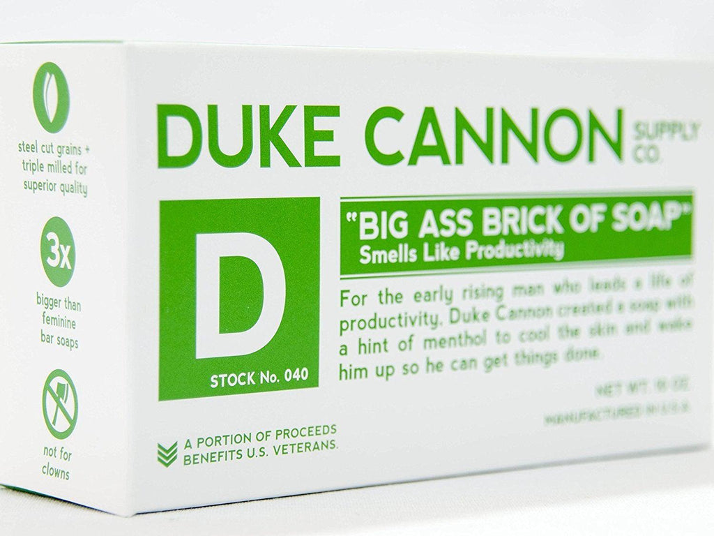 Duke Cannon Big Ass Brick of Soap - Productivity