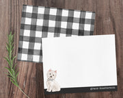 West Highland Terrier Westie Dog B&W Bow Tie Note Cards Stationery