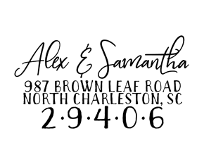 Handwritten Signature Font Custom Address Stamp