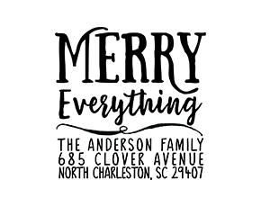Merry Everything Holiday Christmas Custom Address Stamp