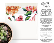 Dusty Pink Roses Floral Border Personalized Note Cards Stationery