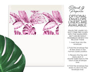 Vintage Pink Tropical Monogram Personalized Note Cards Stationery