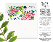 Spring Floral Flower Bouquet Personalized Note Cards Stationery