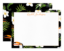 Tropical Toucan Bird Personalized Note Cards Stationery
