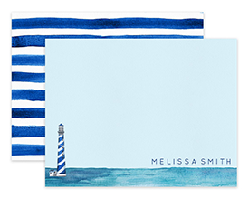 Lighthouse Watercolor Personalized Note Cards Stationery