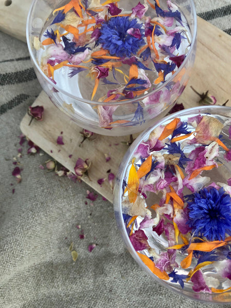 La Petite Ingredients Edible Dried Flowers- Floral Ice Cubes- A Summer HIT!!