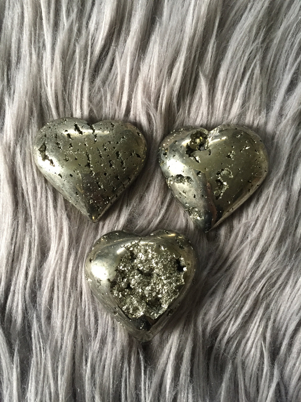 Large Pyrite Cluster Heart - Wilde Mountain Crystals