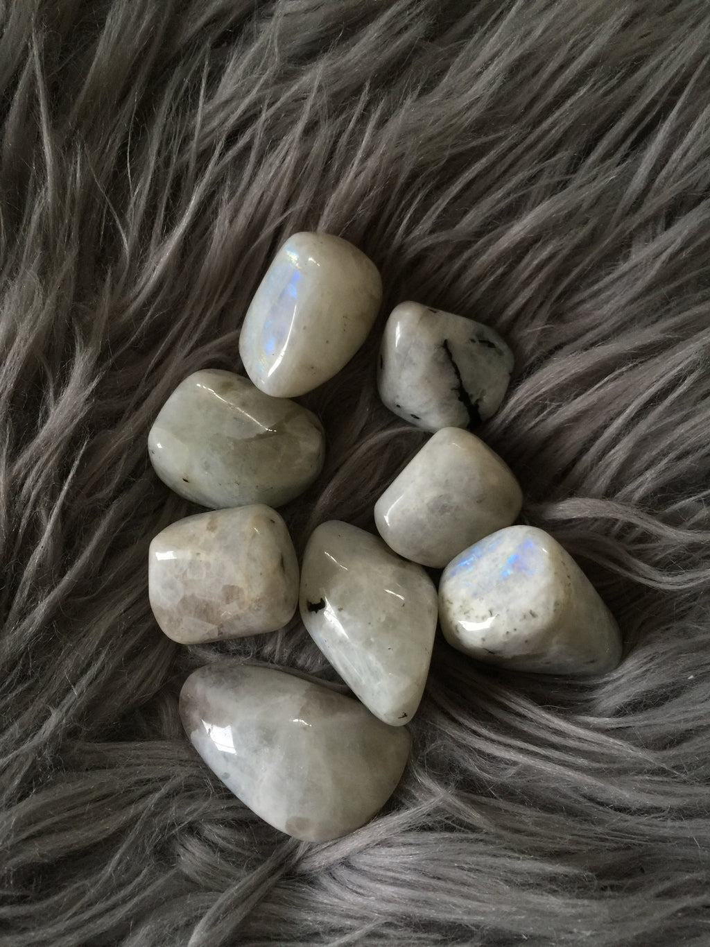 Rainbow Moonstone Tumble - Wilde Mountain Crystals