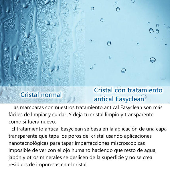 Mampara de Bañera Plegable con Bisagra Cristal Antical 6mm