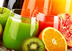 orange and kiwi fruit-juices for health