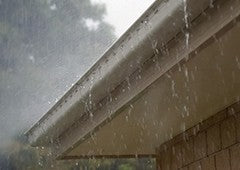 heavy rain on a house