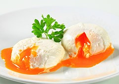 poached eggs are a delicious and healthy breakfast