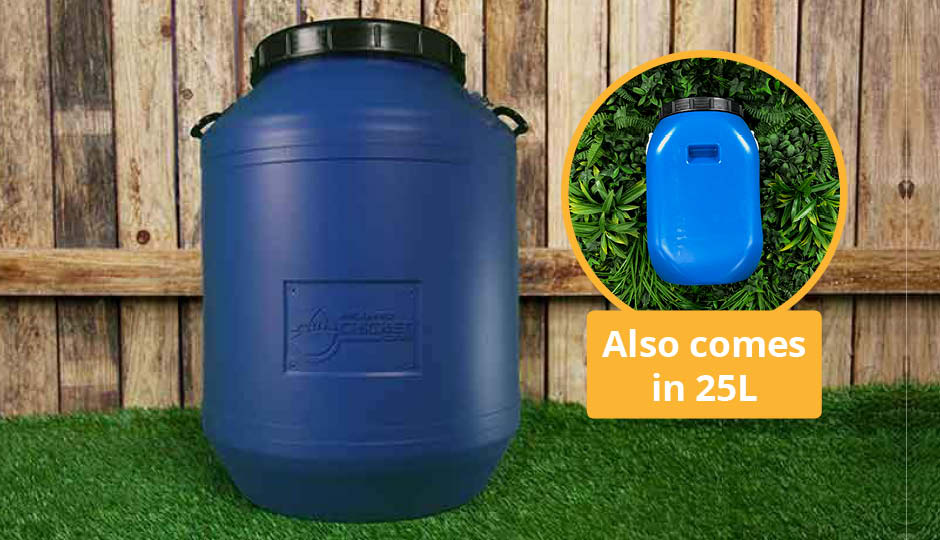 60 litre storage drum for chicken feed or bedding
