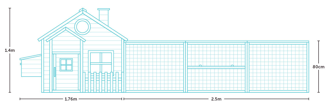 the bed and breakfast chicken coop measurements