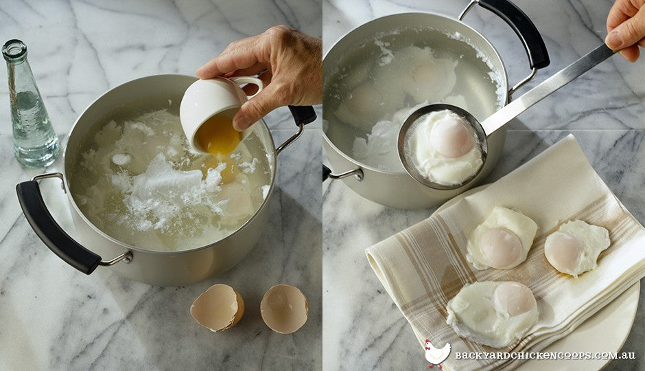 You need a big, wide pot to poach eggs perfectly