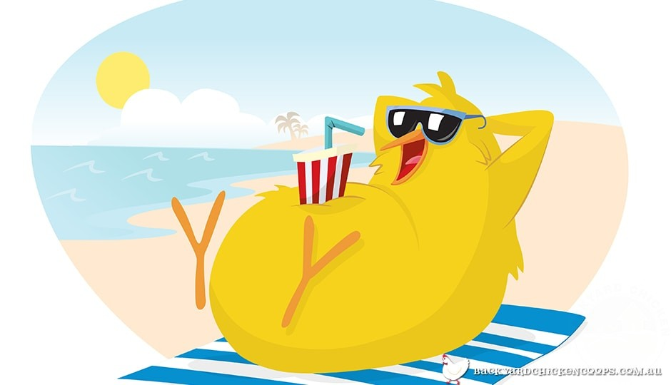 illustration-of-a-chicken-at-the-beach