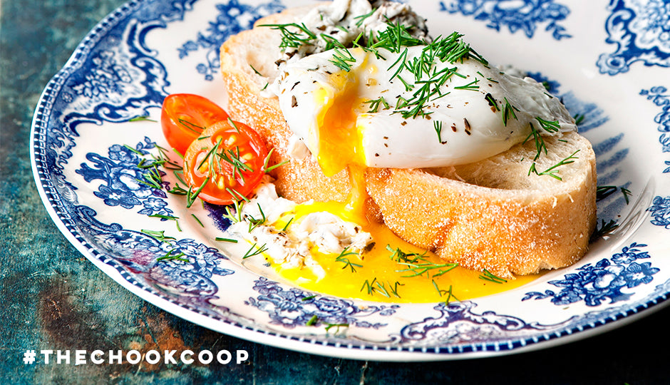 poached eggs on toast for mothers day