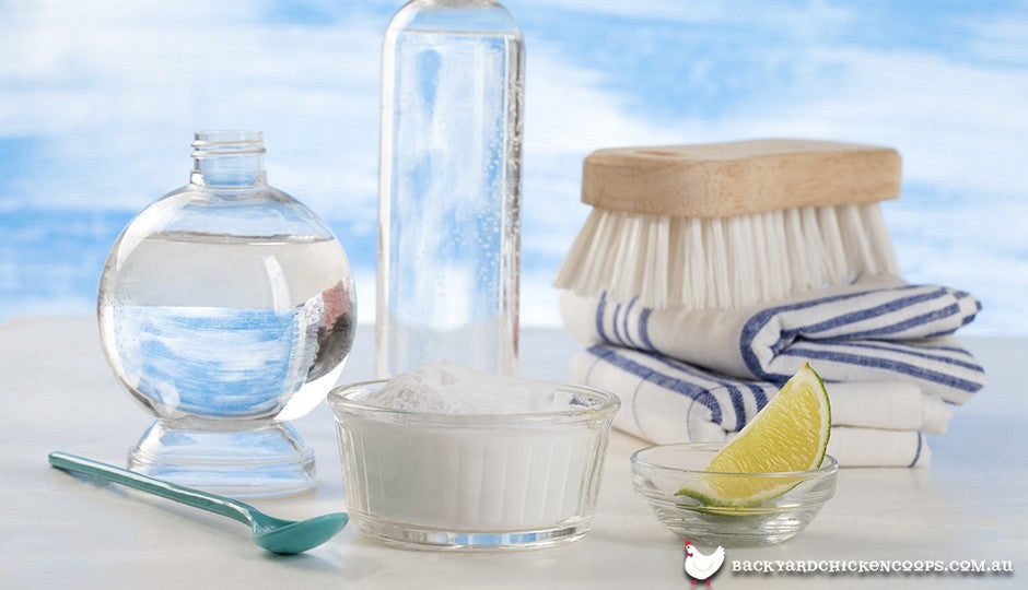 Natural cleaning products for your backyard chicken coop