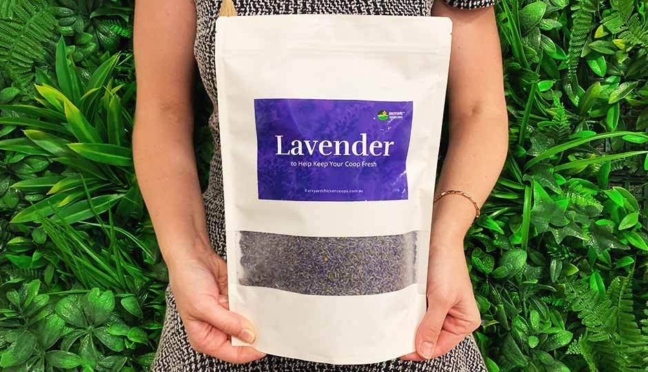 pack of dried lavender to keep chicken coop fresh