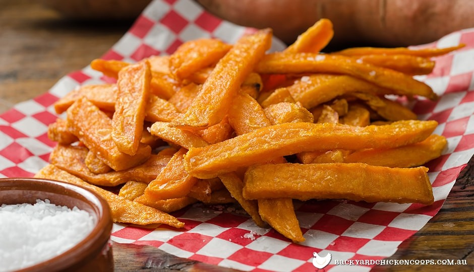 sweet potato chips are a healthy alternative