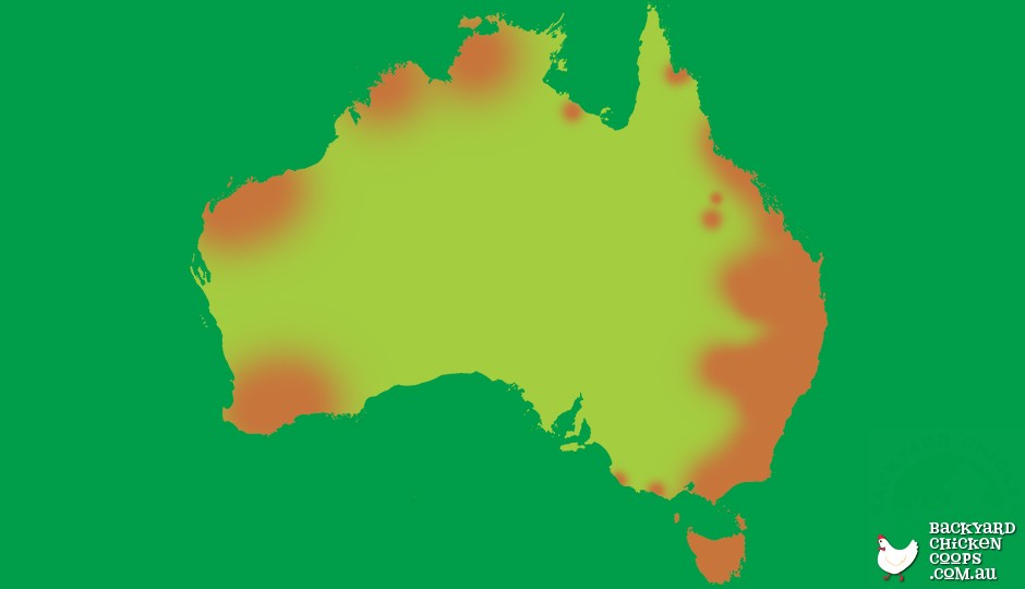 Quoll distribution map of Australia