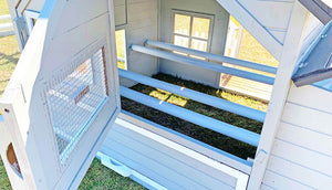 4 indoor perches from the bed and breakfast chicken coop
