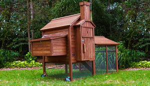 side view chicken coop nesting box