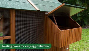 mansion chicken coop nesting box detail