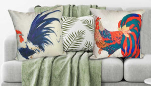 colourful printed chicken cushion covers