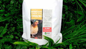 diatomaceous earth for chicken s close up detail of packaging