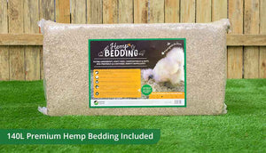 the essentials pack 140L hemp bedding for coop