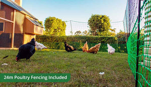 free range pack includes 24m poultry fencing