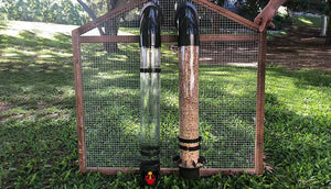 feeder and drinker chicken coop tubes for feeding
