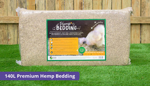 140 litre chicken hemp bedding